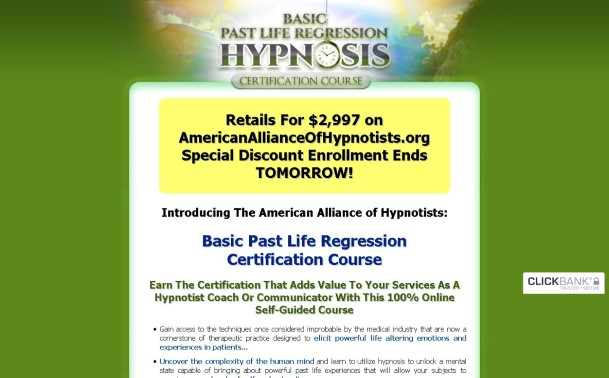 Basic Past Life Regression Certification Review: Read Before You Buy!