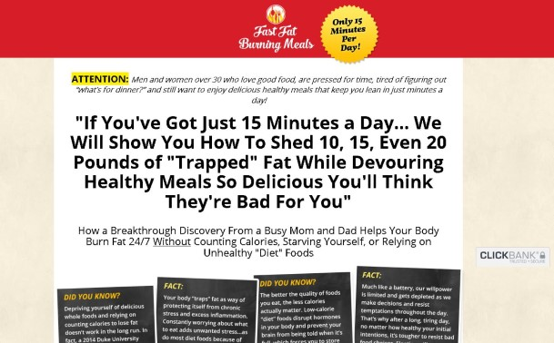 Fast Fat Burning Meals Cookbook Review: Read Before Buying