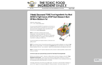 2 101 Toxic Food Ingredients