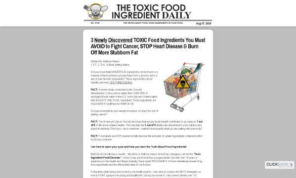 101 Toxic Food Ingredients by Anthony Alayon Review: What You Should Know Before Buying