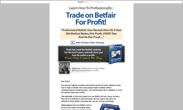 Petes Betfair Methods by Peter Butler Honest Review - Get the Facts!