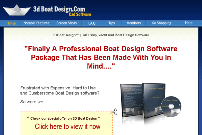 3D Boat Design Site