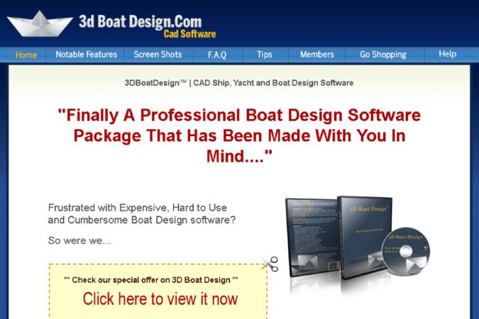 3D Boat Design Site