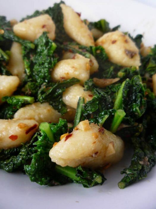 Gnocchi with Kale Anchovy Chilli and Garlic photo