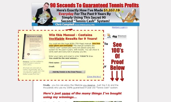 90-Second Tennis Cash Betting System Review