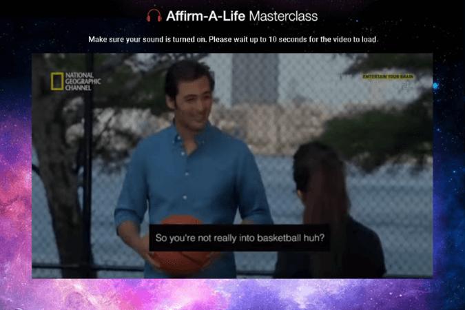 Affirm-a-Life Masterclass Site