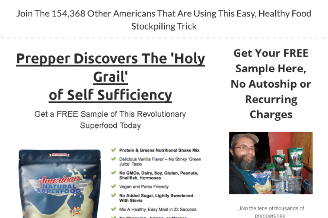 American Natural SuperFood Site