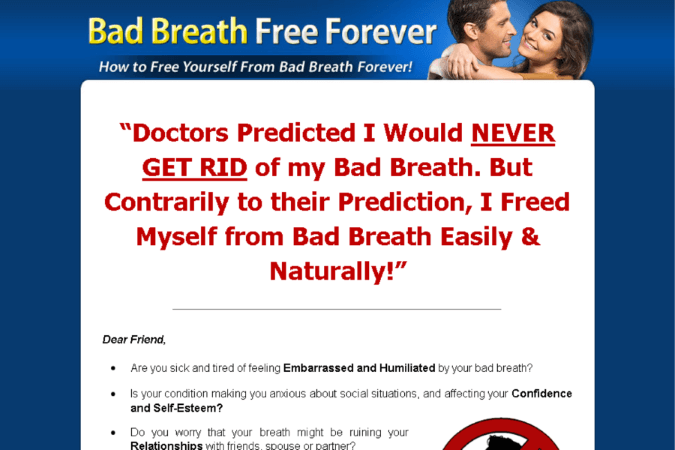 Bad Breath Free Forever Site