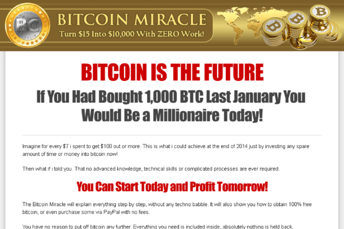 Bitcoin Miracle Site