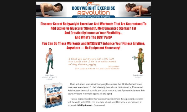 Bodyweight Exercise Revolution No Hype Review - Get the Facts!