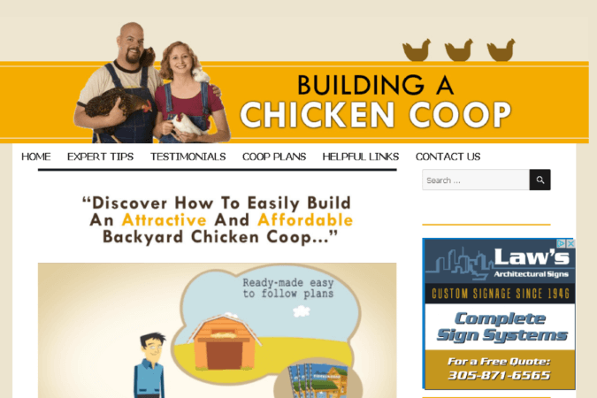 Building a Chicken Coop Site