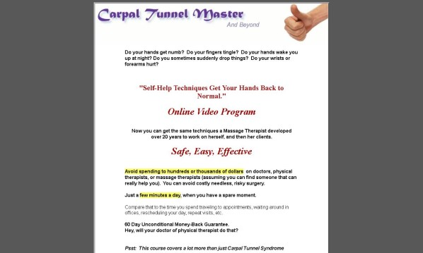 Carpal Tunnel Master Review: The Truth Revealed!