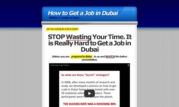 Dubai Job Secrets Review: Read Before Buying