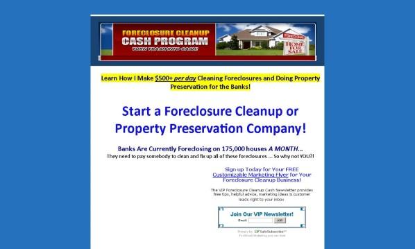 Foreclosure Cleanup Cash Program 1