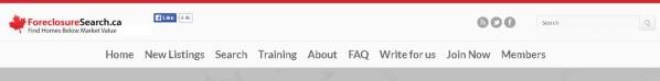 Get ForeclosureSearch.ca Membership