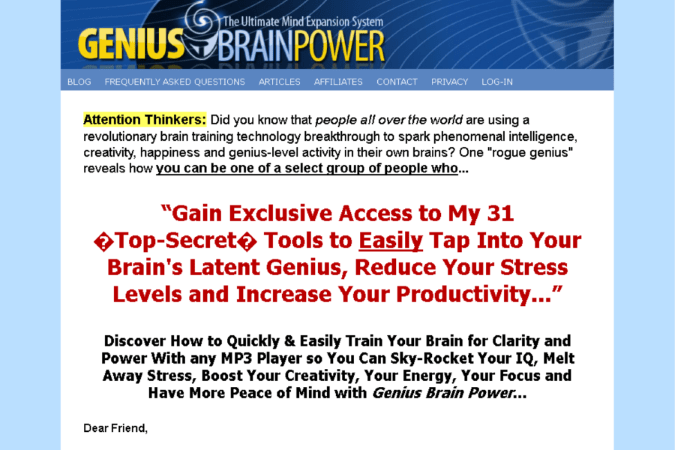 Genius Brain Power Site