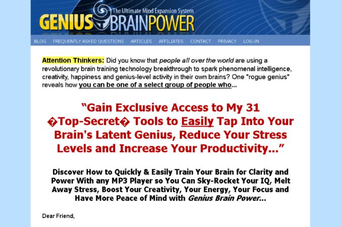 Genius Brain Power Site