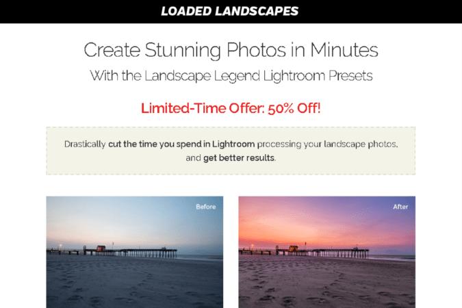 Landscape Legend Lightroom Presets Site