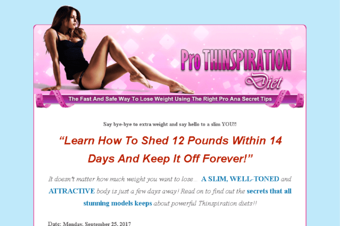 Pro Thinspiration Diet Site