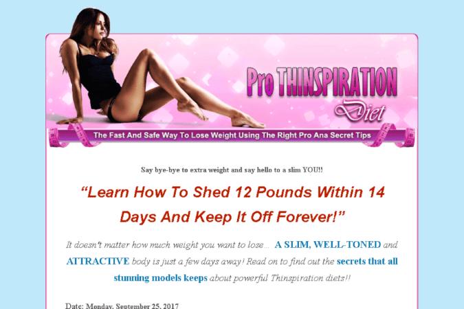 Pro Thinspiration Diet Site