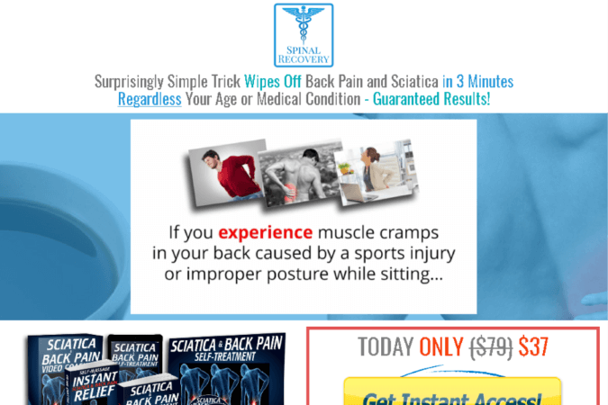 Sciatica & Back Pain Self-Treatment Site