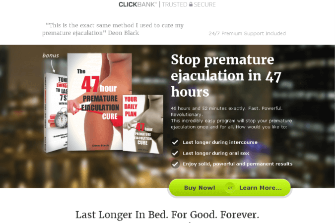 The 47 Hour Premature Ejaculation Cure Site