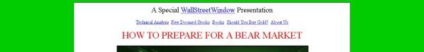 Get Wall Street Window
