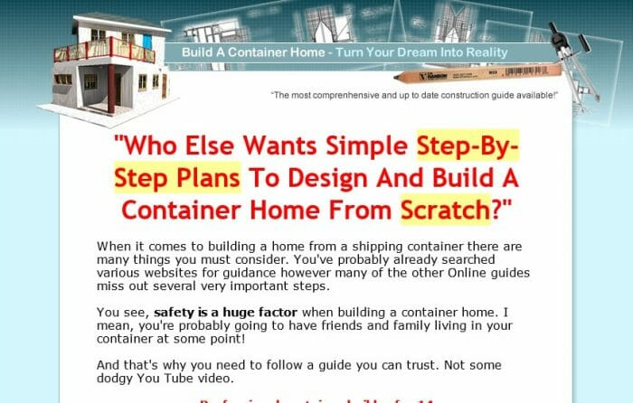 Build A Container Home Review - Does it Really Work?