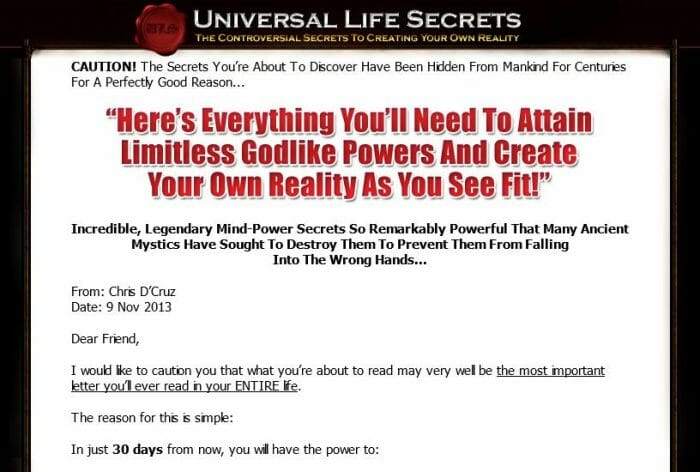 Universal Life Secrets Review