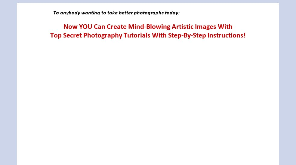 Trick Photography And Special Effects Ebook Review - What are the benefits?