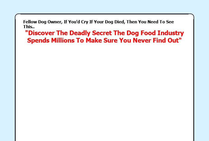 Dog Food Secrets Review - It's Really Good?