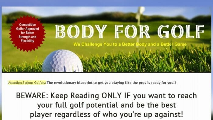 Body for Golf Review