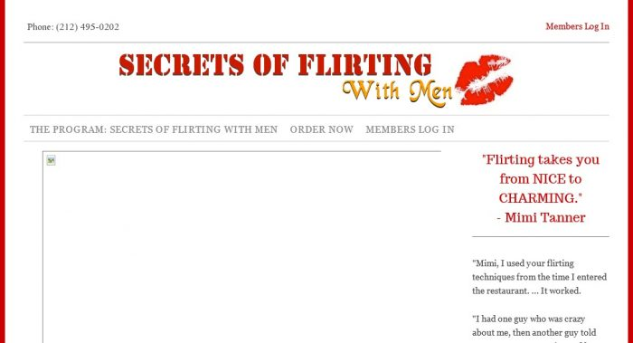 Secrets of Flirting With Men No Hype Review - Get the Facts!