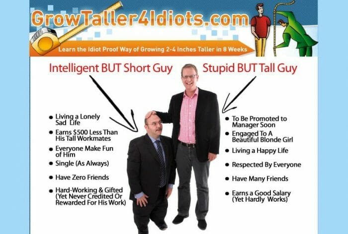 Grow Taller 4 Idiots No Hype Review - Get the Facts!