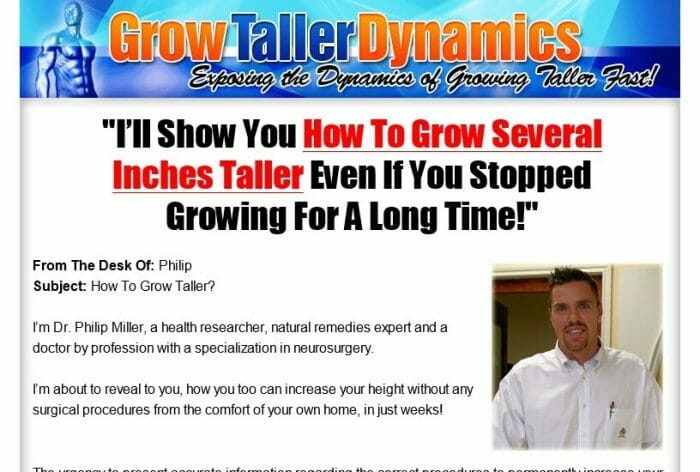 Grow Taller Dynamics Review - What are the Benefits?