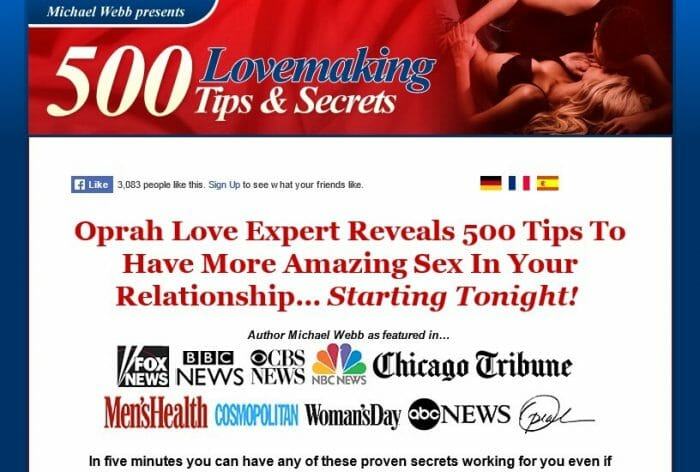 500 Lovemaking Tips & Secrets Review