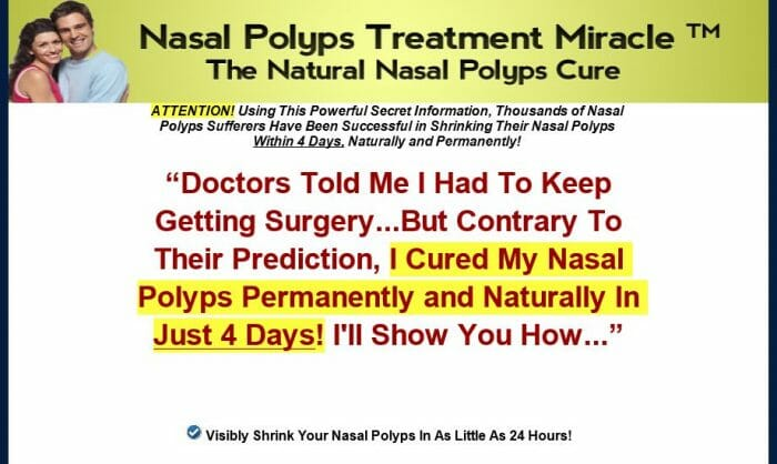 Nasal Polyps Treatment Miracle Review - Does it Really Work?