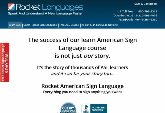 Rocket American Sign Language Review