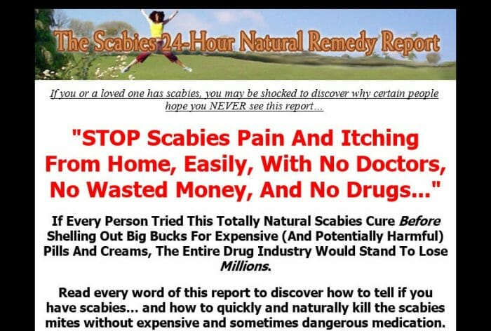 The Scabies 24hr Natural Remedy Report Review - It Is Effective?