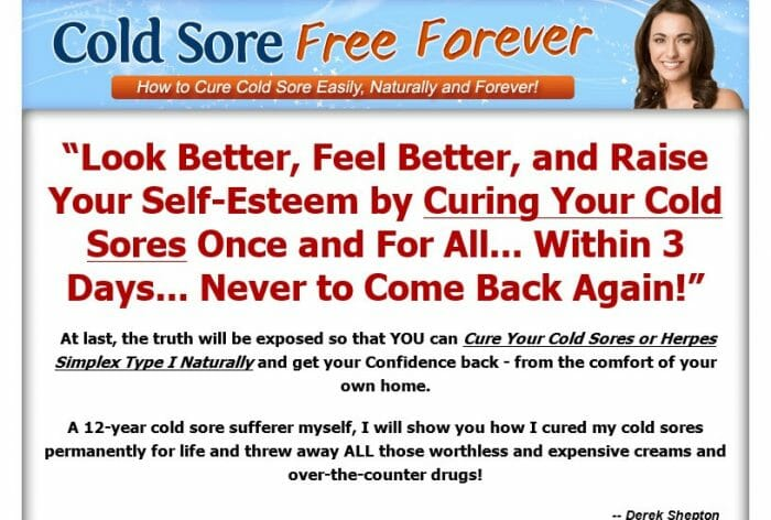 Cold Sores Free Forever Review - Does it Really Work?