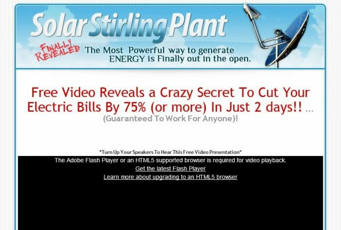 Solar Stirling Plant Review