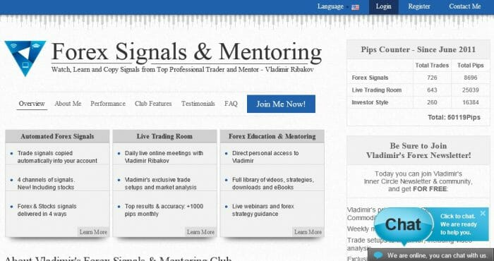 Vladimirs Forex Signals & Mentoring Review: Read Before Buying
